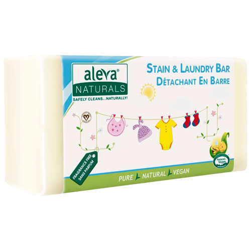 Aleva Naturals Stain & Laundry Bar - 220g - Fragrance-Free