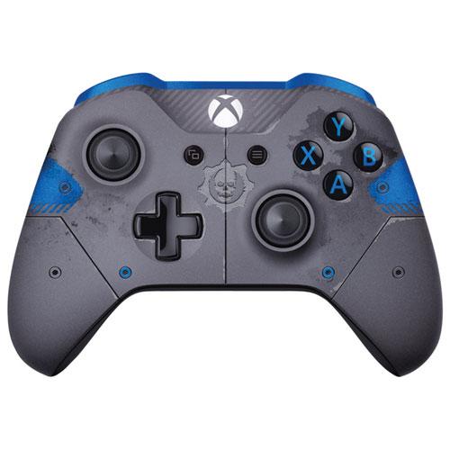 Manette Xbox One Gears of War 4 JD Fenix édition limitée - Gris-bleu