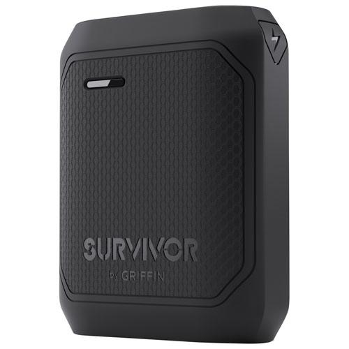 Chargeur portable de 10 050 mAh Survivor de Griffin - Noir