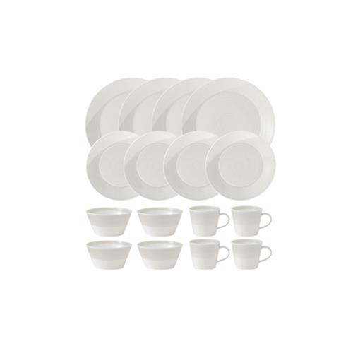 Ensemble de vaisselle 16 pièces collection 1815 porcelaine de Chine