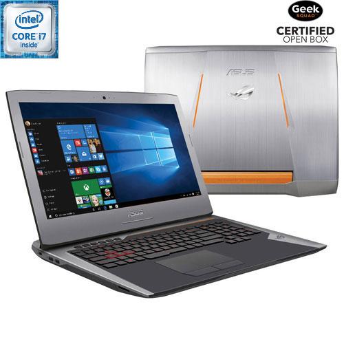 "ASUS ROG G752 17.3"" Gaming Laptop-Copper Silver (Intel Core i7-6700HQ/1TB HDD/128GB SSD/16GB RAM)-Eng - Open Box"