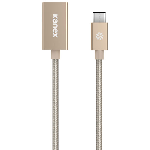 Kanex 0.21m (0.69 ft.) USB-C to USB-A (Female) Adapter - Gold