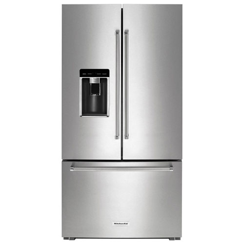 """Kitchenaid 22 1 Cu Ft French Door Refrigerator With Ice: KitchenAid 36"""" 23.8 Cu. Ft. Counter-Depth French Door Refrigerator With Water & Ice Dispenser"""