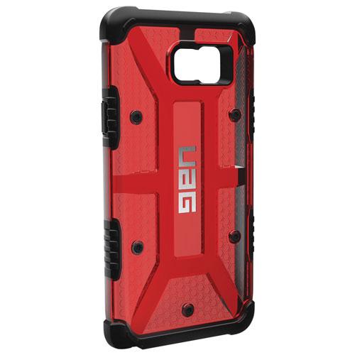Étui à coque rigide ajusté de UAG pour Galaxy Note 5 - Rouge-noir