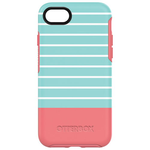 OtterBox Symmetry iPhone 7/8 Fitted Hard Shell Case - Graphic Pink/Mint