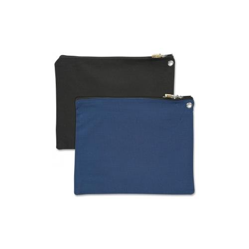 Merangue Carrying Case (Pouch) for Jewelry, Money, Accessories, File Folder - Black, Blue