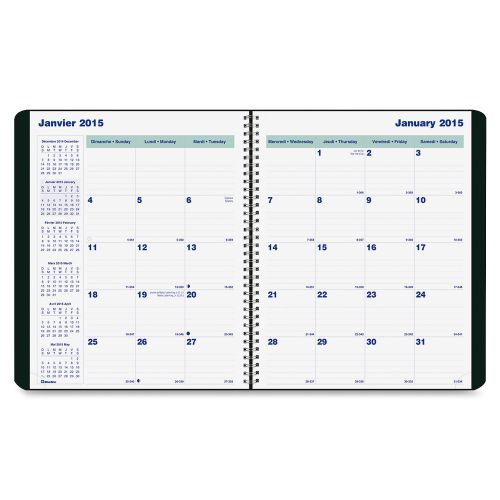 blueline wirebound monthly planner notebooks best buy canada