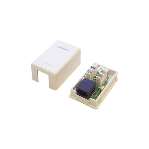 StarTech Single Cat5e RJ45 Wall Jack White with Keystone Jack