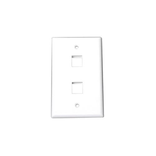 StarTech Dual Outlet RJ45 Universal Wall Plate White