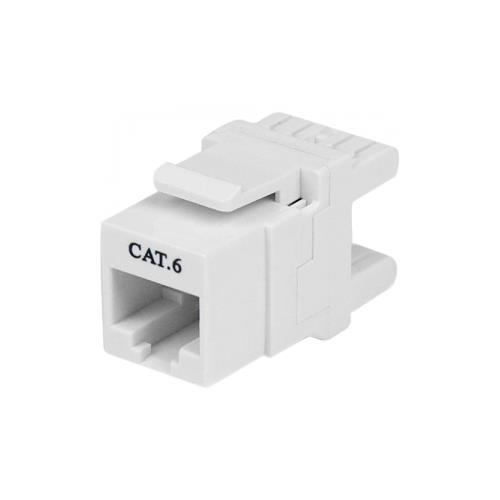 StarTech 180 degree Cat 6 Keystone Jack - RJ45 Ethernet Cat6 Wall Jack White - 110 Type