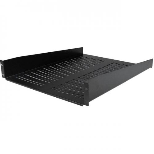 StarTech 2U 22in Vented Rack Mount Shelf - Fixed Server Rack Cabinet Shelf - 50lbs / 22kg