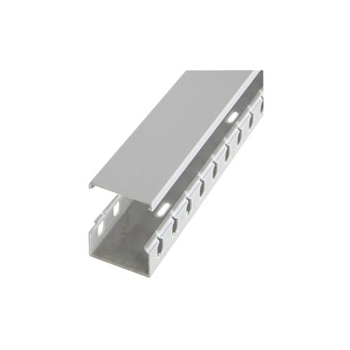 StarTech 2in x 1in Open Slot Wiring Cable Raceway Duct with Cover - Open Slot - Cable raceway - gray - 2 m