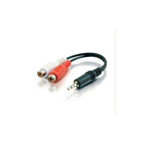 C2G 6in Value Series One 3.5mm Stereo Male To Two RCA Stereo Female Y-Cable
