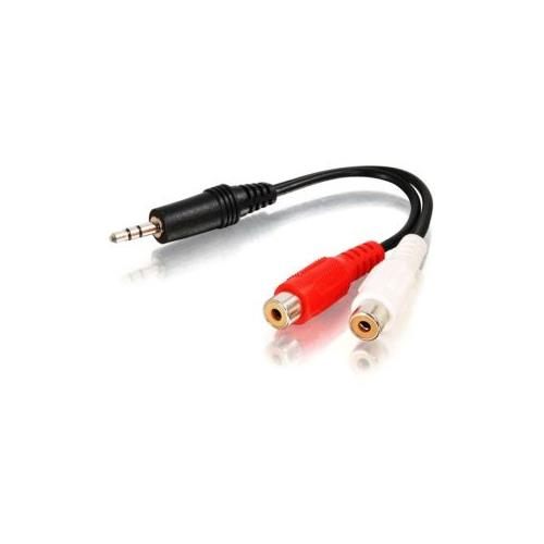 C2G 6ft One 3.5mm Stereo Male to Two RCA Stereo Female Y-Cable