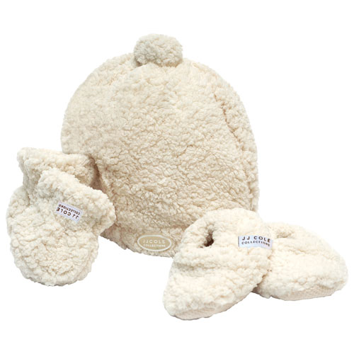Jj Cole Bundleme Shearling Baby Hat Mittens Booties Set 0 To 6