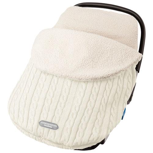 JJ Cole Knit Bundleme Infant Car Seat Weather Shield - Cream