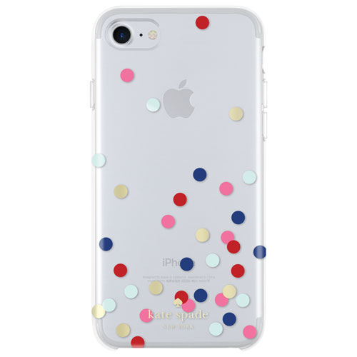 Kate Spade New York iPhone 7/8 Confetti Dot Fitted Hard Shell Case - Gold/Silver