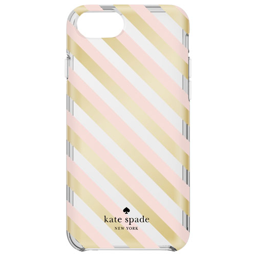 kate spade new york iPhone 7/8 Diagonal Stripe Fitted Hard Shell Case