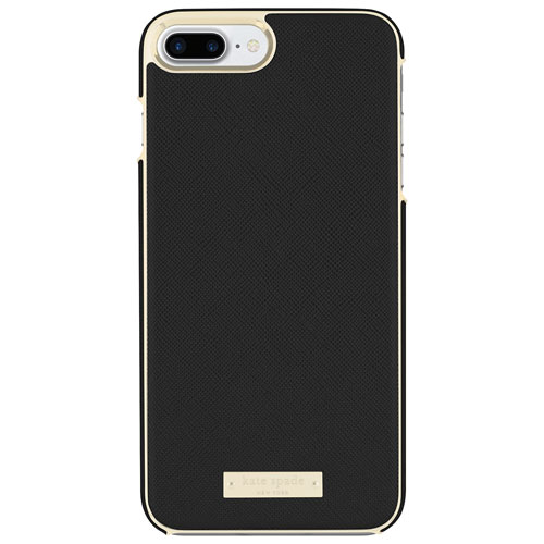 kate spade new york iPhone 7/8 Plus Leather Fitted Hard Shell Case - Black