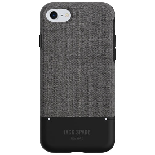 Étui rigide ajusté Teck Oxford de Jack Spade New York pour iPhone 7/8 - Gris