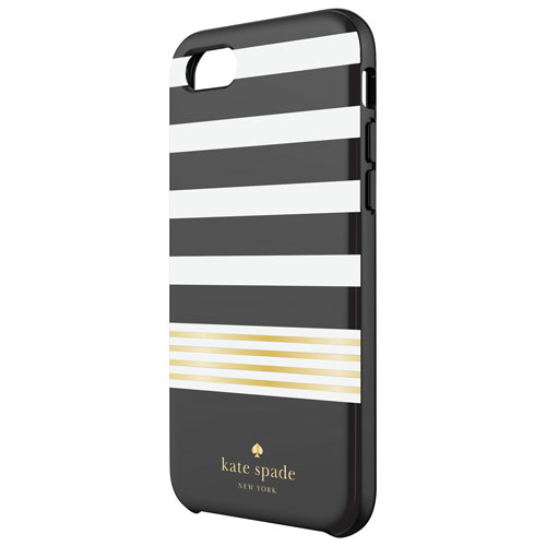 Final Clearance Kate Spade New York IPhone 7 8 Stripe Fitted Hard Shell Case
