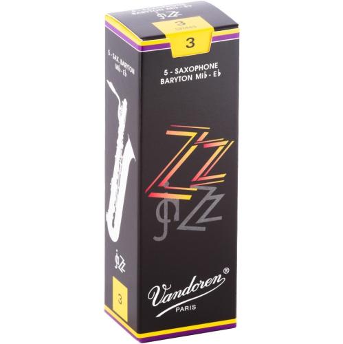 Vandoren ZZ Baritone Saxophone Reeds - #3, 5 Box