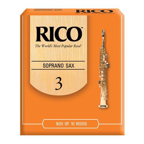 Rico Soprano Saxophone Reeds - #3, 10 Box