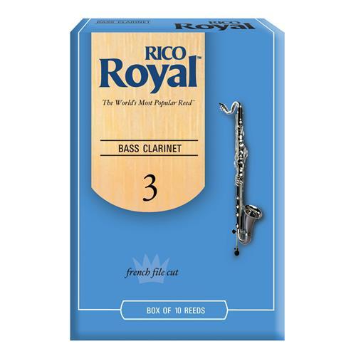 Royal Bass Clarinet Reeds - #3, 10 Box