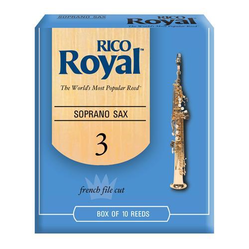 Royal Soprano Saxophone Reeds - #3, 10 Box