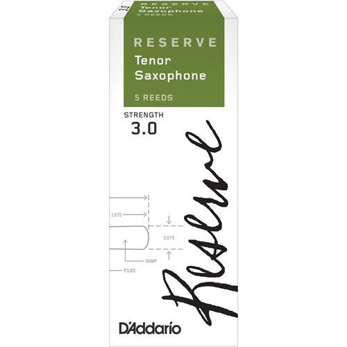 Reserve Tenor Saxophone Reeds - #3.0, 5 Box