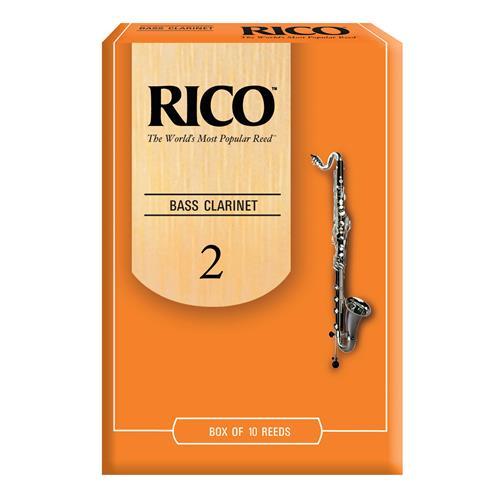 Rico Bass Clarinet Reeds - #2, 10 Box