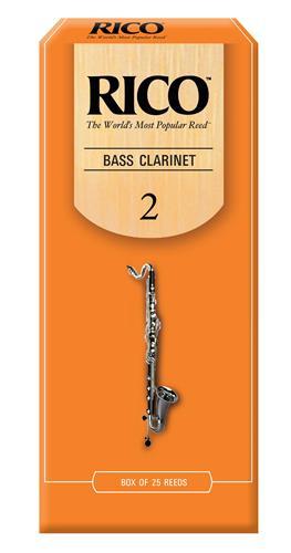 Rico Bass Clarinet Reeds - #2, 25 Box