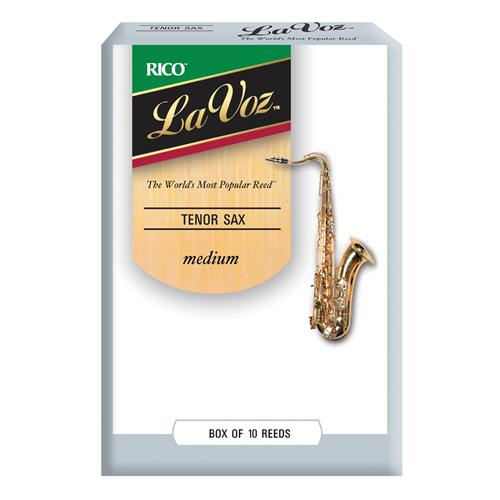 La Voz Tenor Saxophone Reeds - Medium, 10 Box
