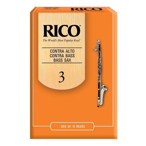 Rico Contra Bass and Contra Alto Clarinet Reeds - #3, 10 Box