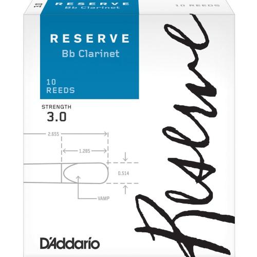 Reserve Bb Clarinet Reeds - #3, 10 Box