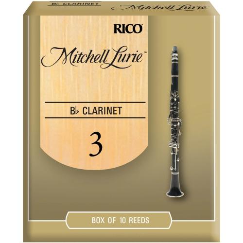 Mitchell Lurie Bb Clarinet Reeds - #3, 10 Box