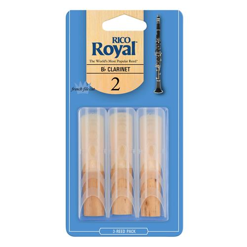 Royal Bb Clarinet Reeds - #2, 3 Pack