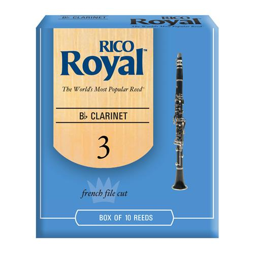 Royal Bb Clarinet Reeds - #3, 10 Box
