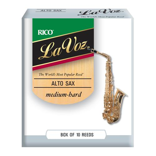 La Voz Alto Saxophone Reeds - Medium Hard, 10 Box