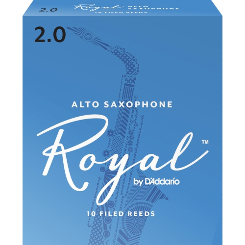 Royal Alto Saxophone Reeds - #2, 10 Box