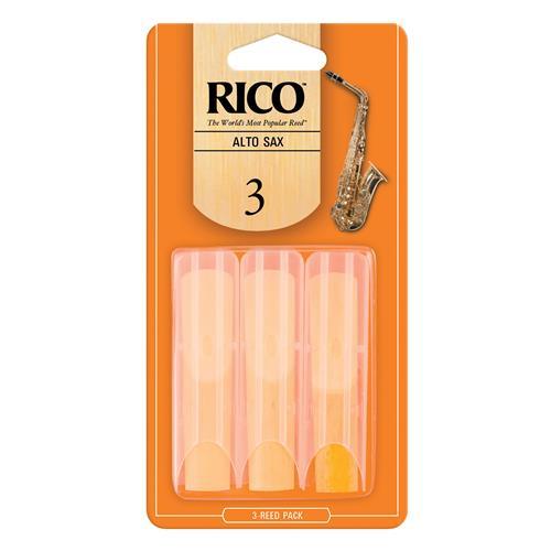 Rico Alto Saxophone Reeds - #3, 3 Pack