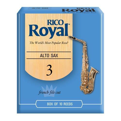 Royal Alto Saxophone Reeds - #3, 10 Box