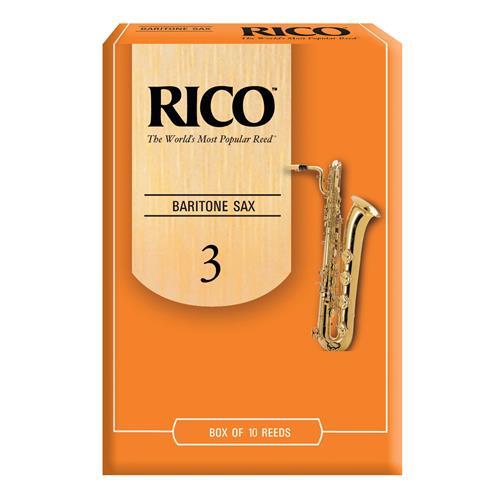 Rico Baritone Saxophone Reeds - #3, 10 Box