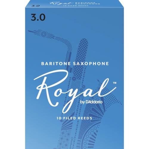 Royal Baritone Saxophone Reeds - #3, 10 Box