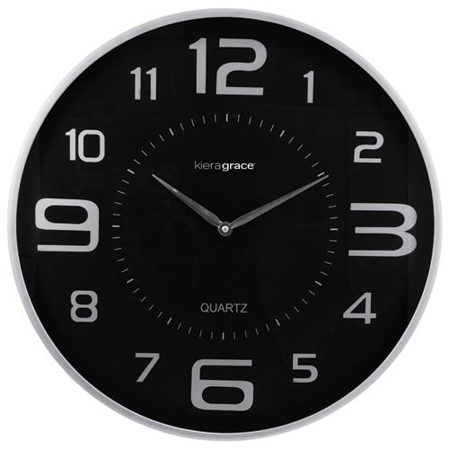 Kiera Grace Austin Analog Wall Clock - Silver