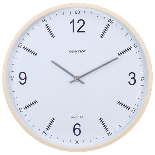 Horloge murale analogique Neo de Kiera Grace - Beige