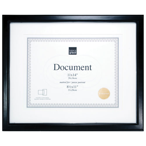 Kiera Grace Caspian 11 X 14 Document Frame 12 Pack Black