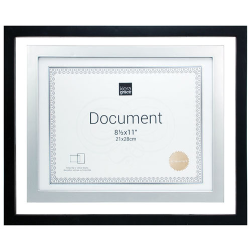 Kiera Grace City 85 X 11 Document Frame 12 Pack Black