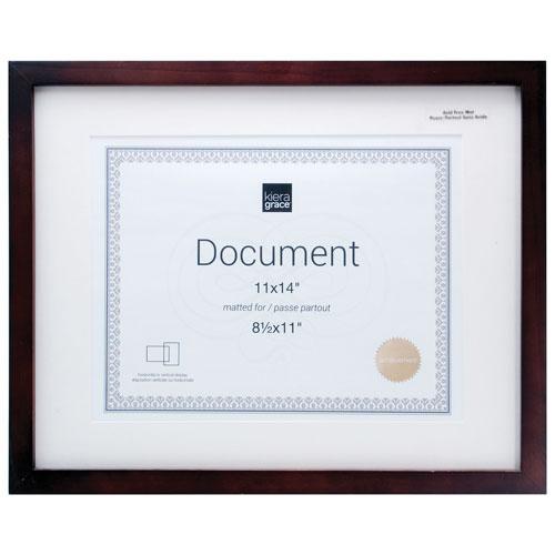 "Kiera Grace Contempo 11"" x 14"" Document Frame - 4 Pack - Espresso"