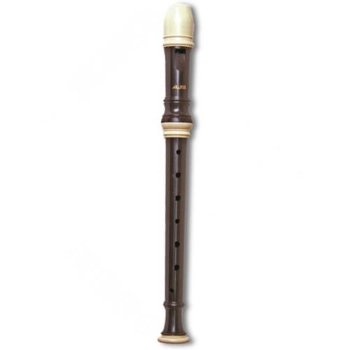 Aulos E103N 1-Piece English/Baroque Soprano Recorder - Dark Brown